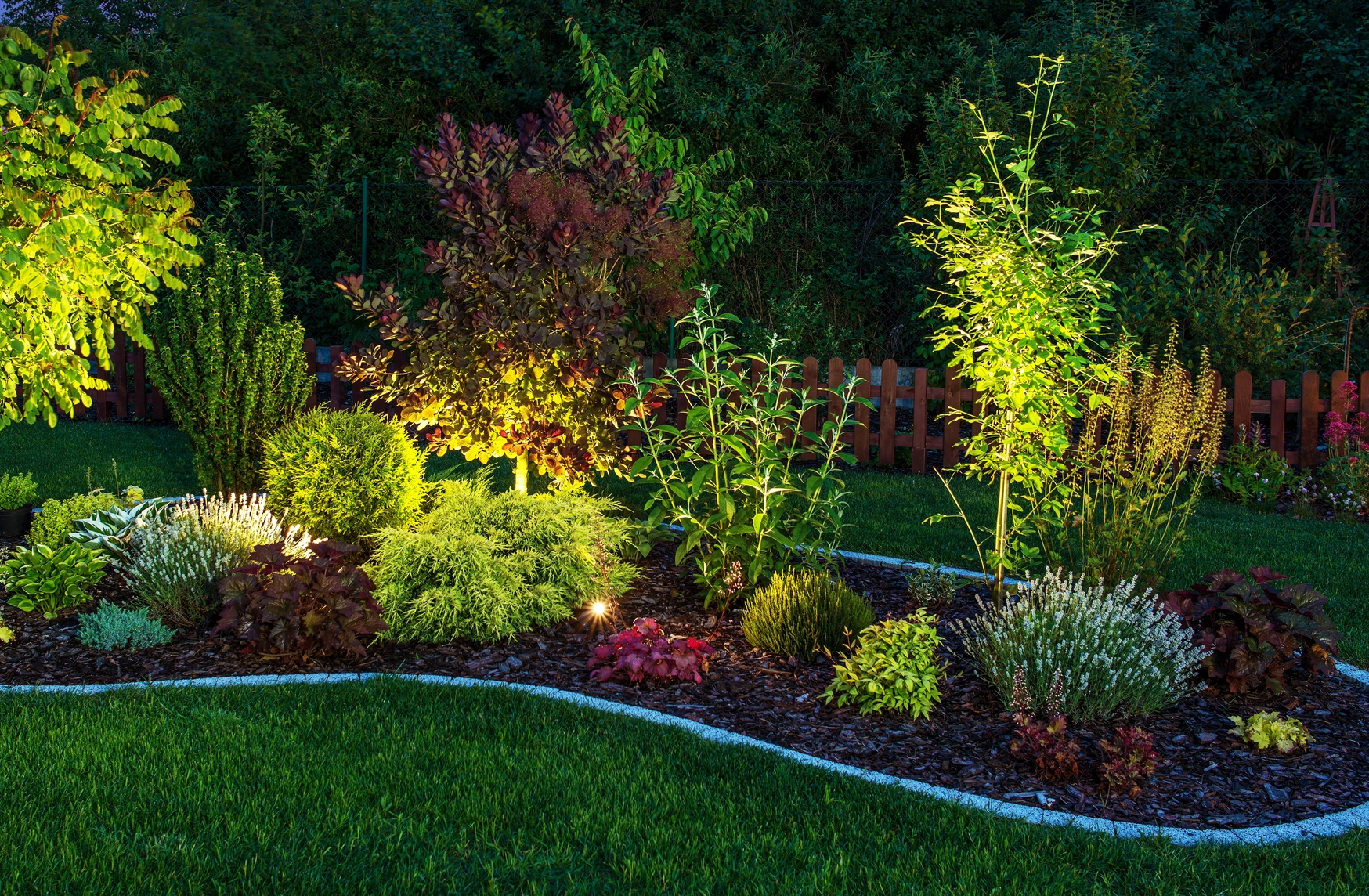 Andover outdoor lighting for Landscaping your garden